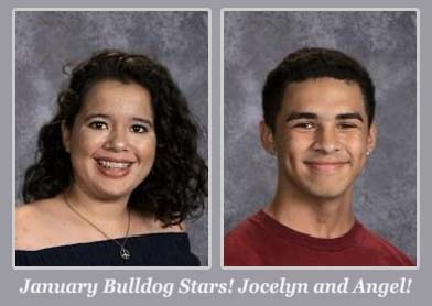 January Students of the Month - Jocelyn & Angel