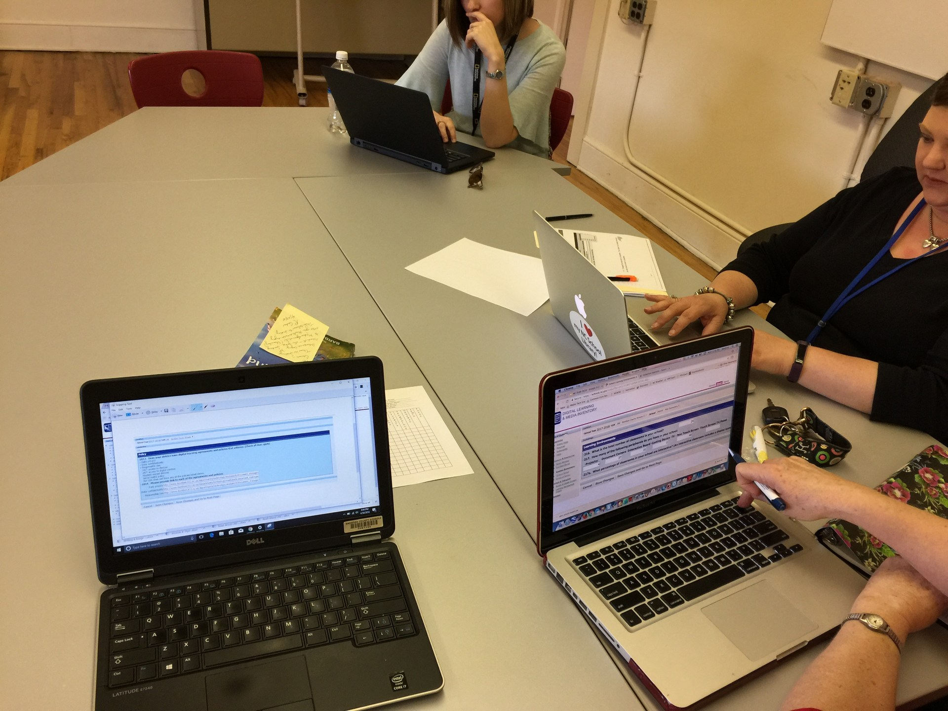 SLMCs working on NCDLMI annual reports for NCDPI.