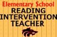 Reading Intervention Teacher Needed