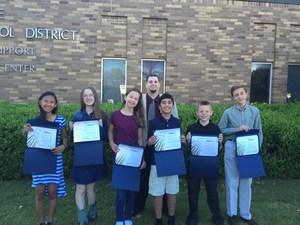 math counts school board meeting outside.JPG