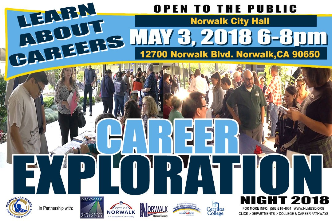 MARK YOUR CALENDARS FOR CAREER EXPLORATION NIGHT MAY 3RD 6-8PM