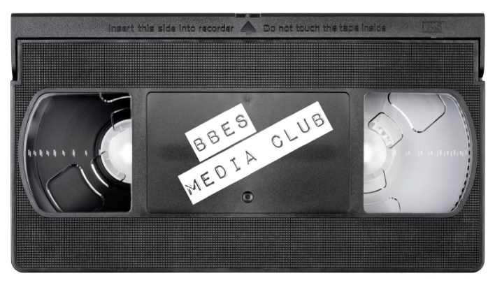 Picture of VHS tape that say BBE Media Club