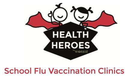 Health Heroes Flu Clinic Logo