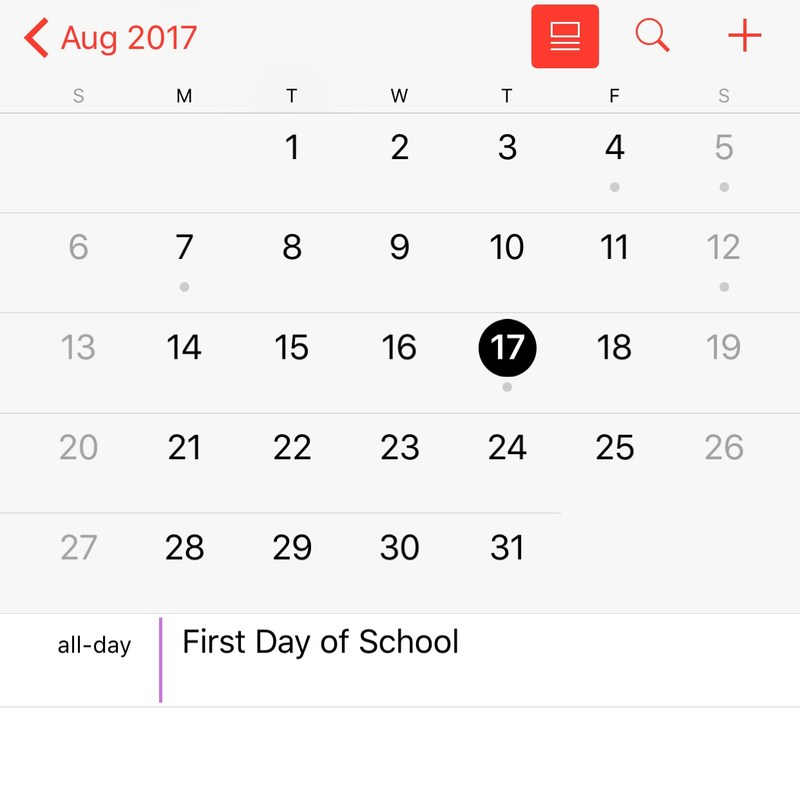 First Day of School, Thursday, August 17 Thumbnail Image