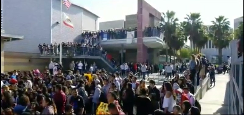 Global Studies / MCLC Walkout on Gun Violence on March 14, 2018 Featured Photo