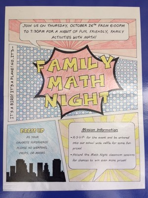Family Math Night Poster