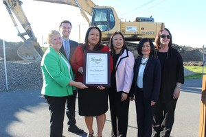 Senator Janet Nguyen presents proclamation