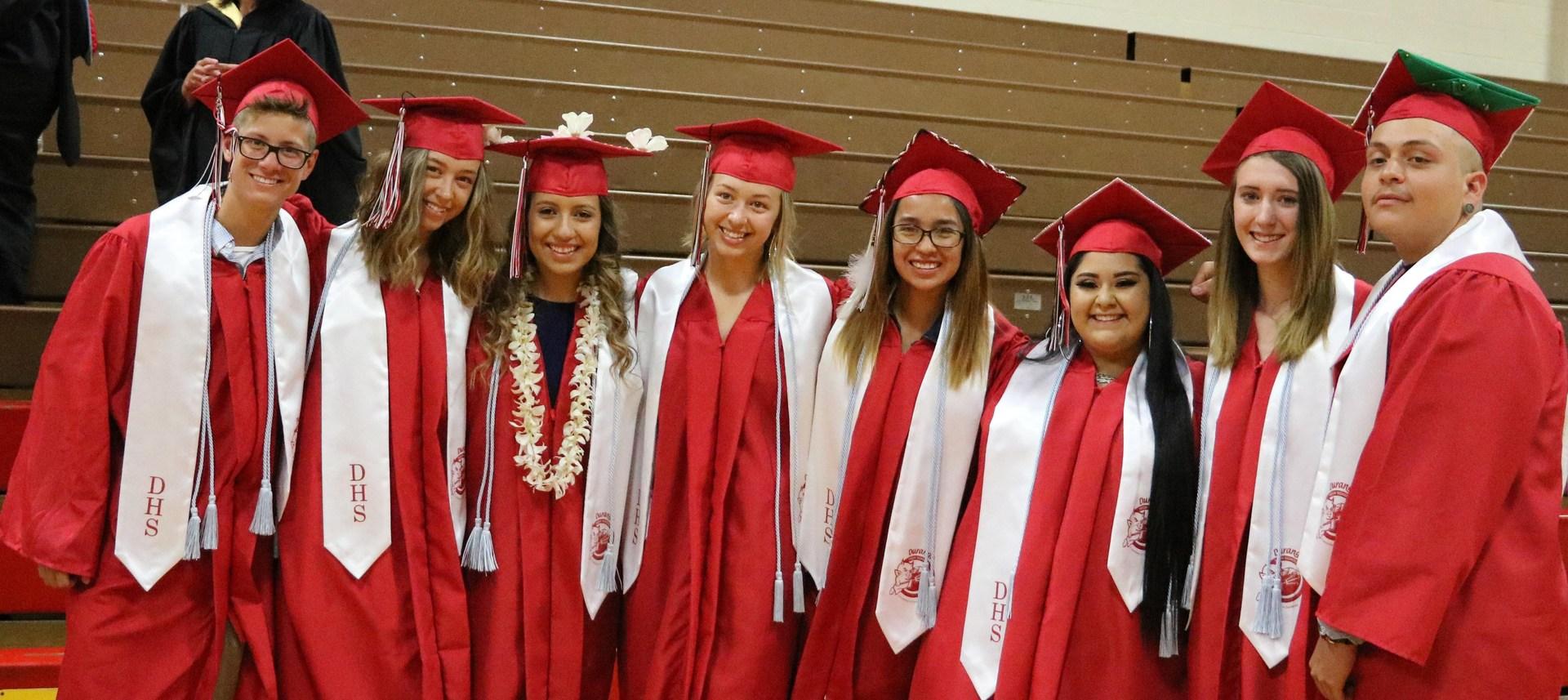 DHS AVID students at graduation.