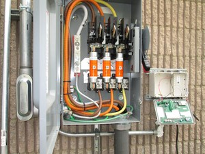 Close up of electrical panel
