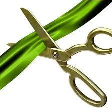 Sissors cutting ribbon