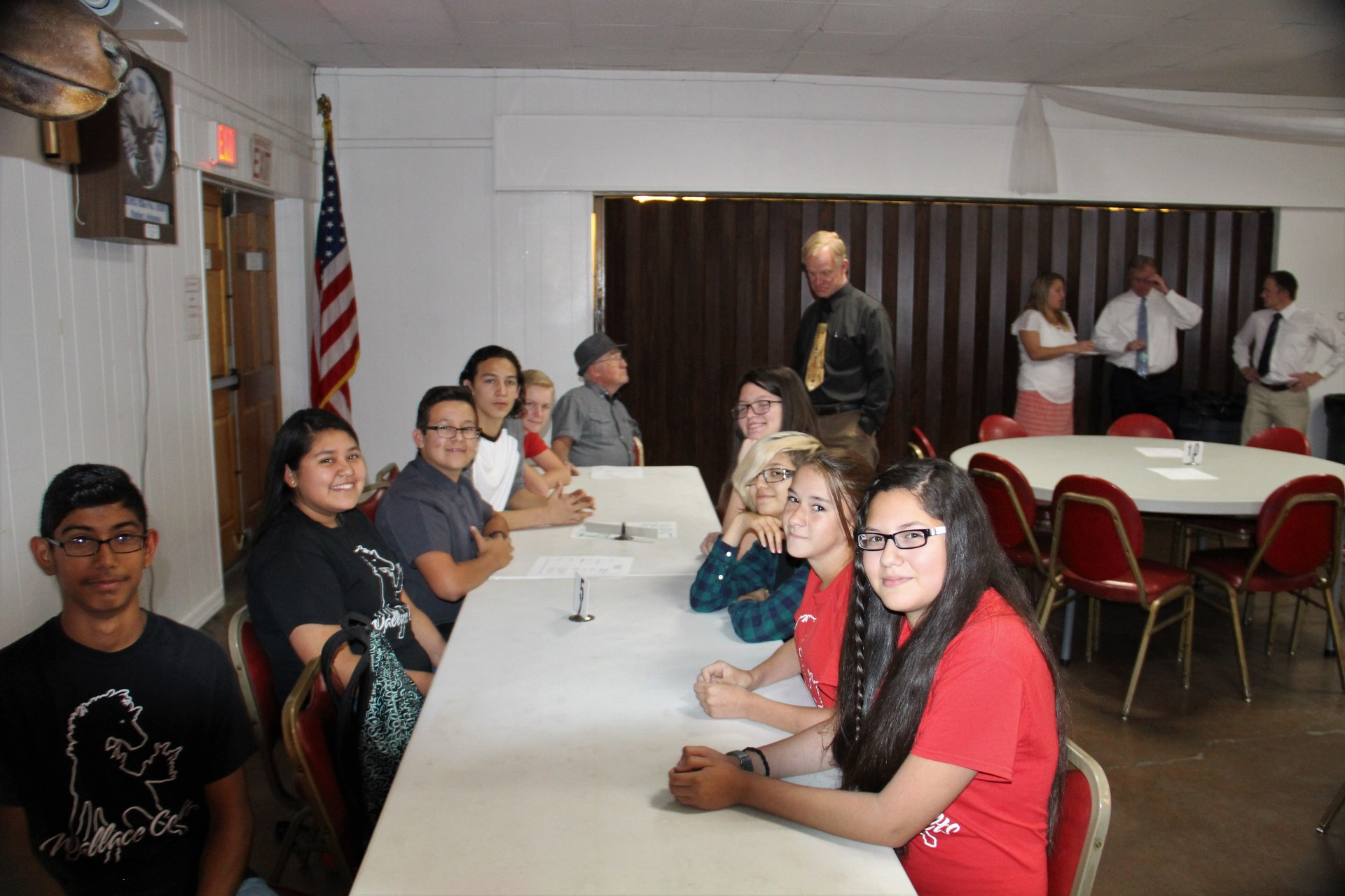 High school students at Elks Lodge Scholarship luncheon