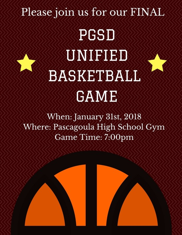 Unified Basketball Game Flyer