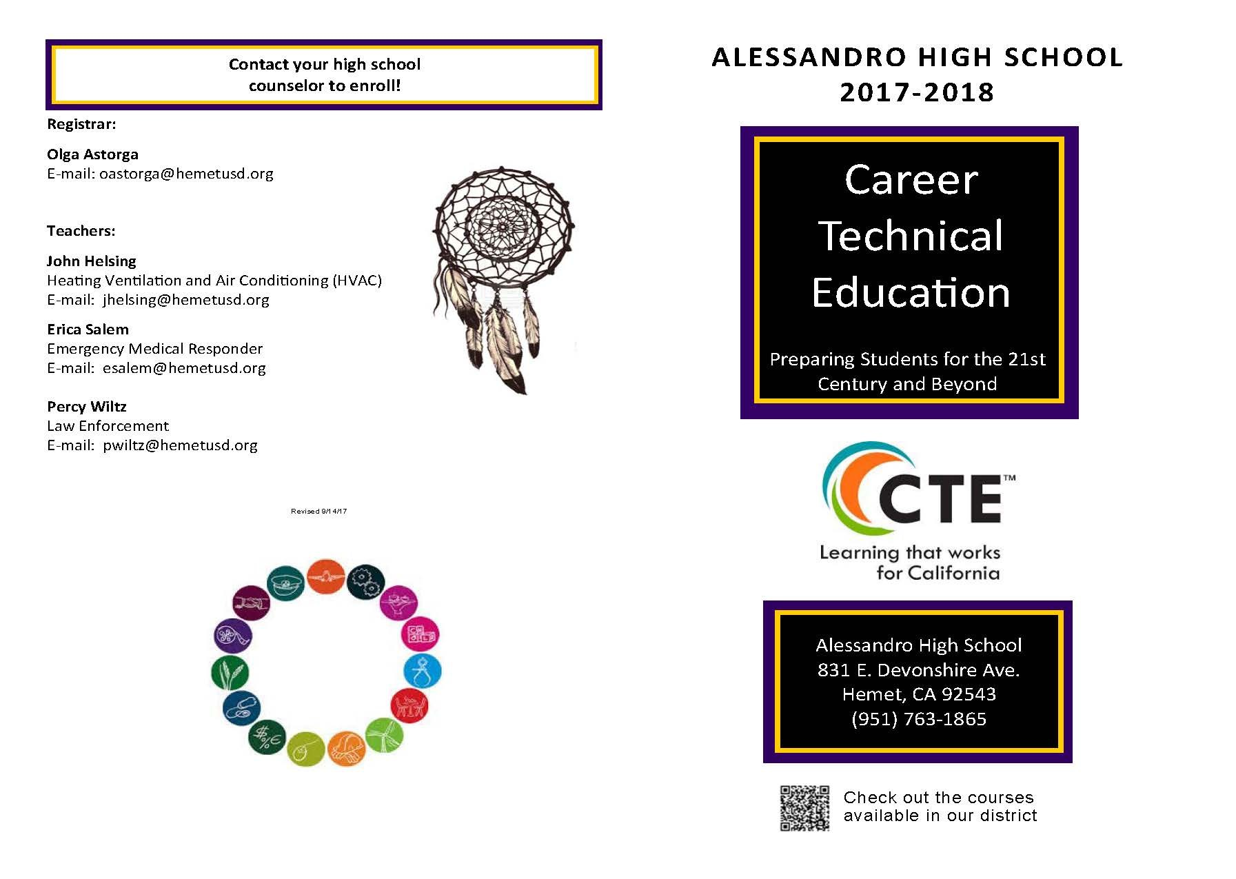 Alessandro High School Brochure