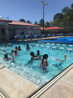 Marcie Posey's second graders recently went to the YMCA for swimming lessons.