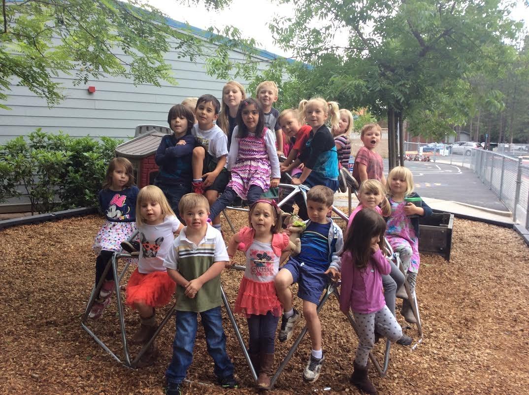 Preschool Students on Playground