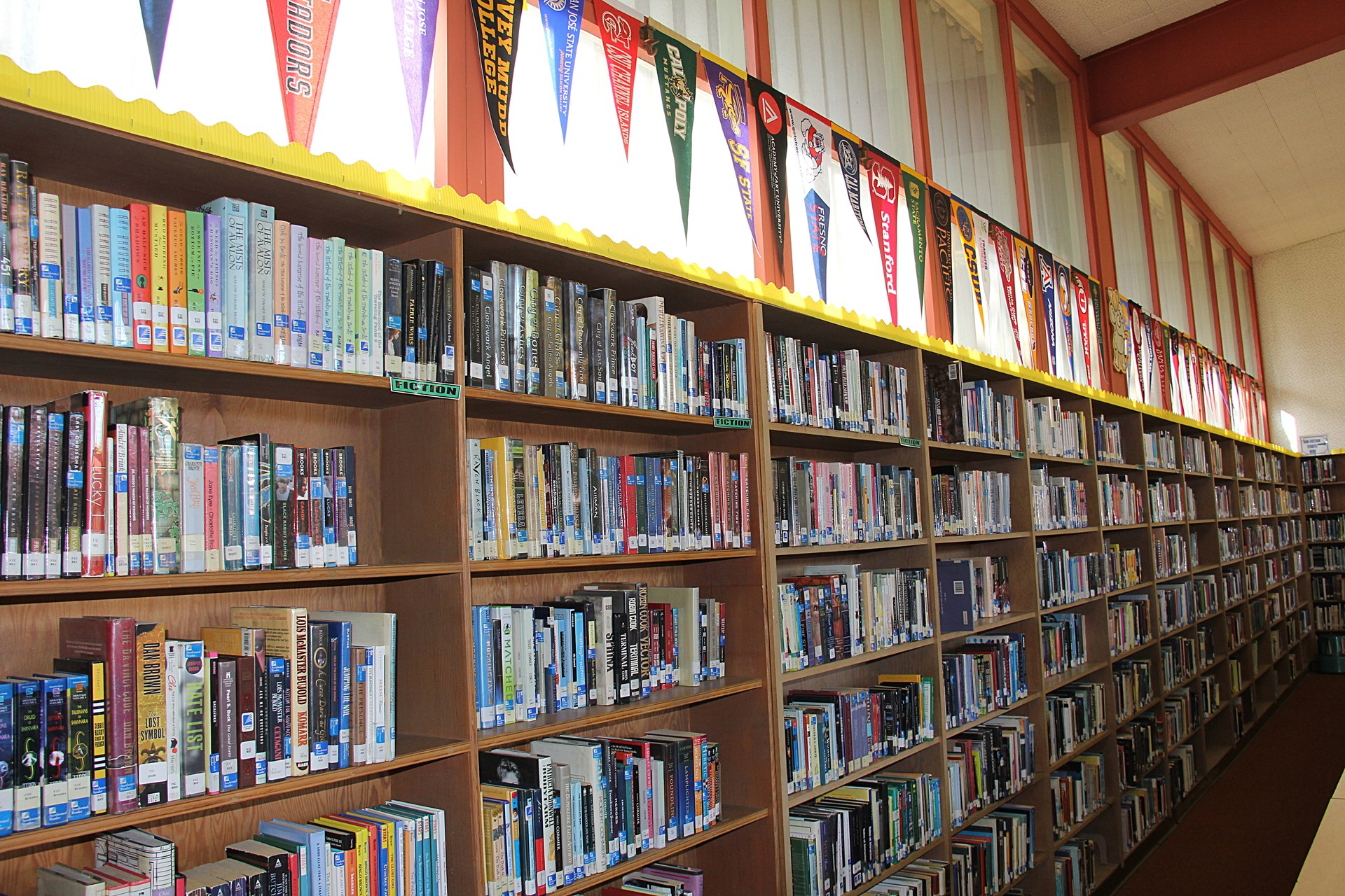 Image of books on Library shelf