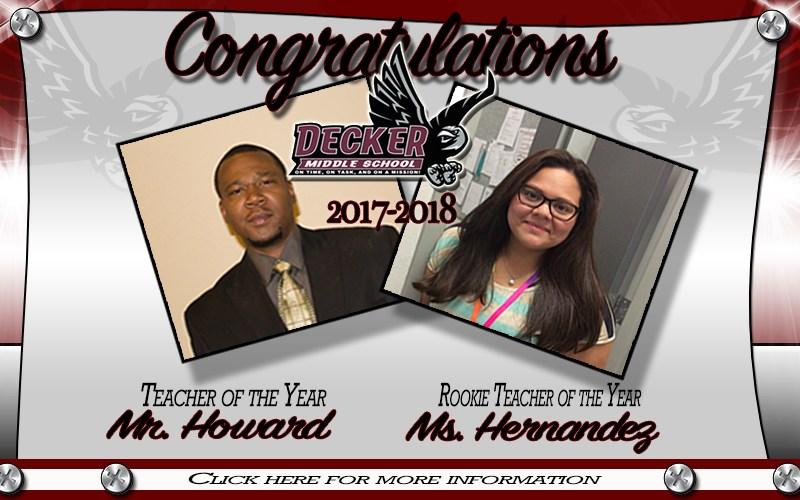 2017-2018 DMS Teacher & Rookie Teacher of the Year Thumbnail Image