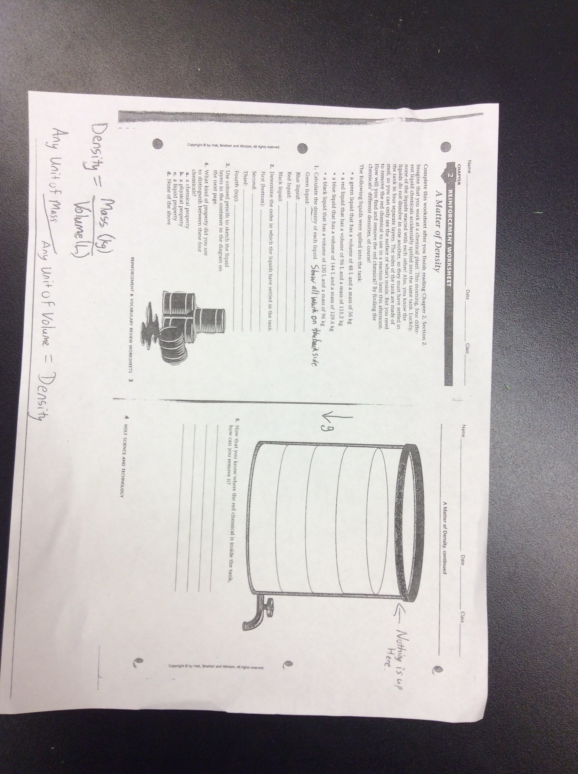 Density Worksheet Physical Science Interesting A Matter Of Density