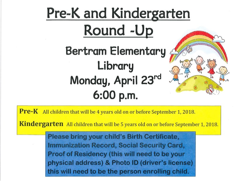Time for Pre-K and Kindergarten Round-Up! Thumbnail Image