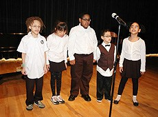 Image of 5 young students at the 2010 Spring Concert