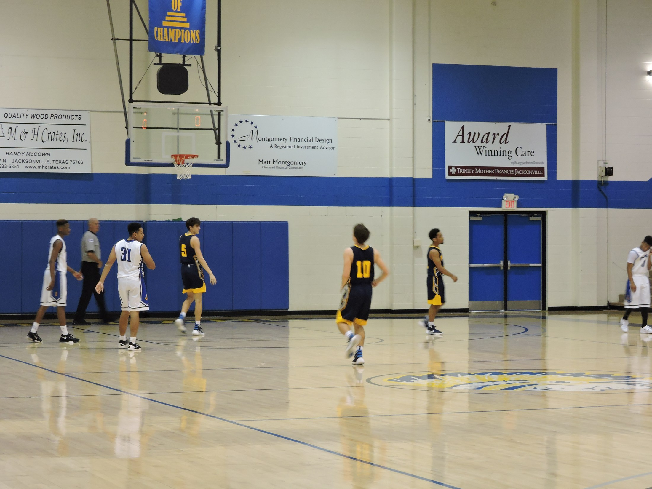 basketball game inside John Alexander Gym