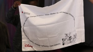 The Disney Pillowcase students received.