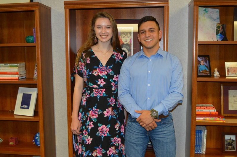 Victoria Carter and Jake Guerrero Students of the Month