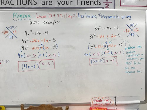 Lesson 7.7/7.8 combined - Factoring using Split Group method
