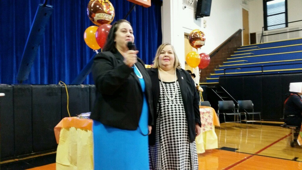Superintendent of School Mrs. Silvia Abbato with Parent Liaison Maria Kanick