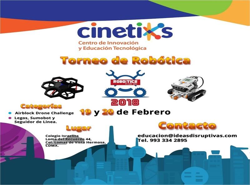 Invitación al torneo de robótica 18 y 20 de febrero Featured Photo