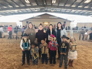 "Pictured are some of the Jose ""Joe"" Correa Belt Buckle Round-Up Prospect Show participants, Cosmetology teachers and instructional support staff which judged the Cutest Cowboy and Cowgirl competition of the Round-Up."