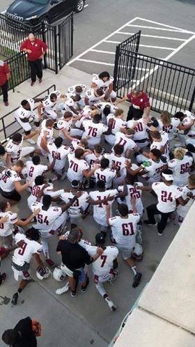 Ardmore High School Football Team, Group, Kneeling, White Jerseys, Boys, Coaches