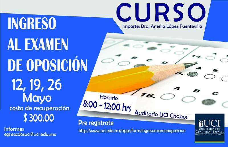 Curso Ingreso al Examen de Oposición Featured Photo