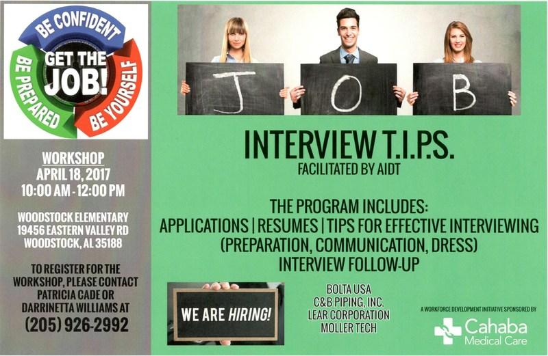 Interview T.I.P.S. Workshop flyer