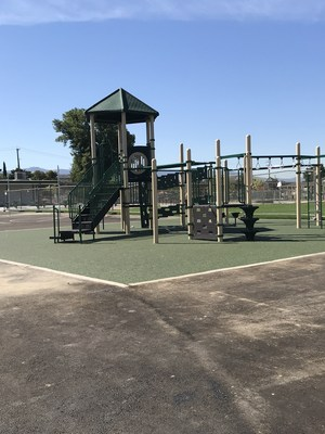 New playground structure by the portables