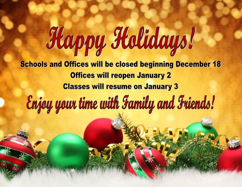 Holiday Break! Thumbnail Image