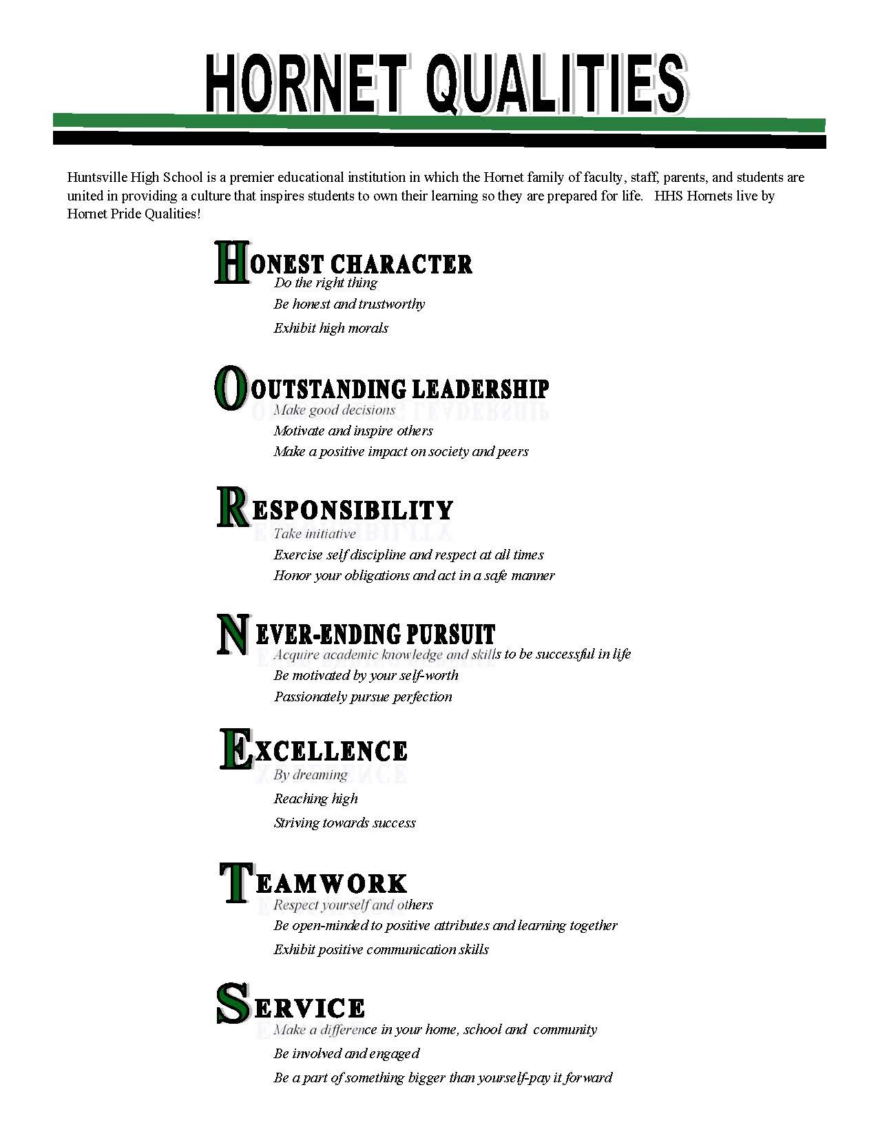 Hornet Qualities