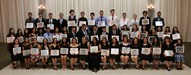 Group picture of all district student honorees