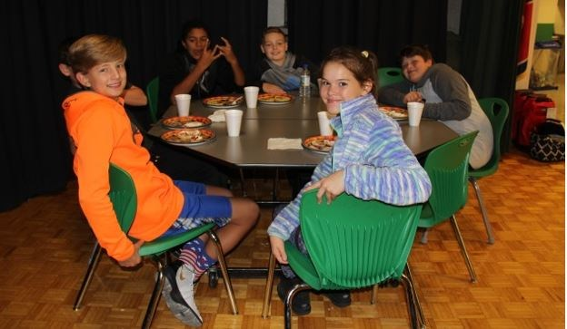 Picture of kids at a table.