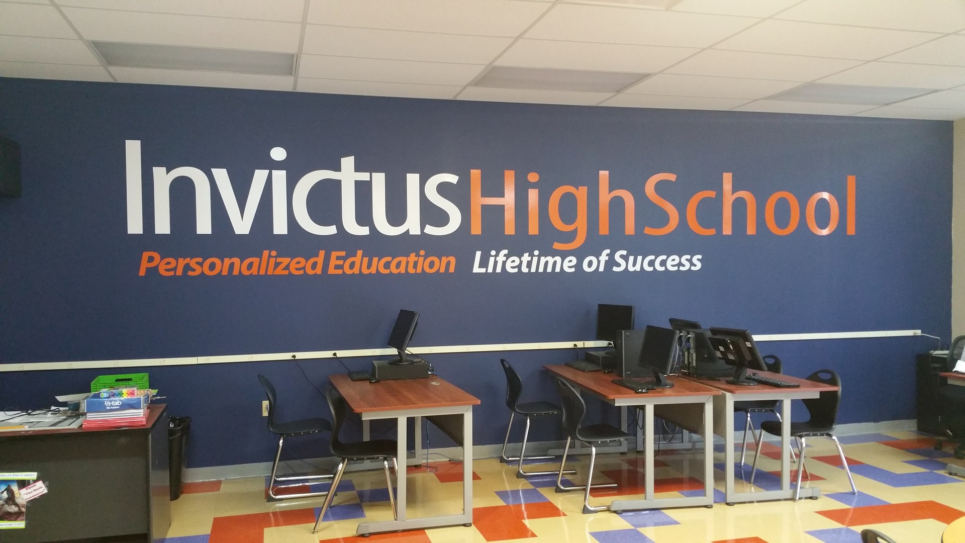 Invictus High School Downtown Cleveland Classroom