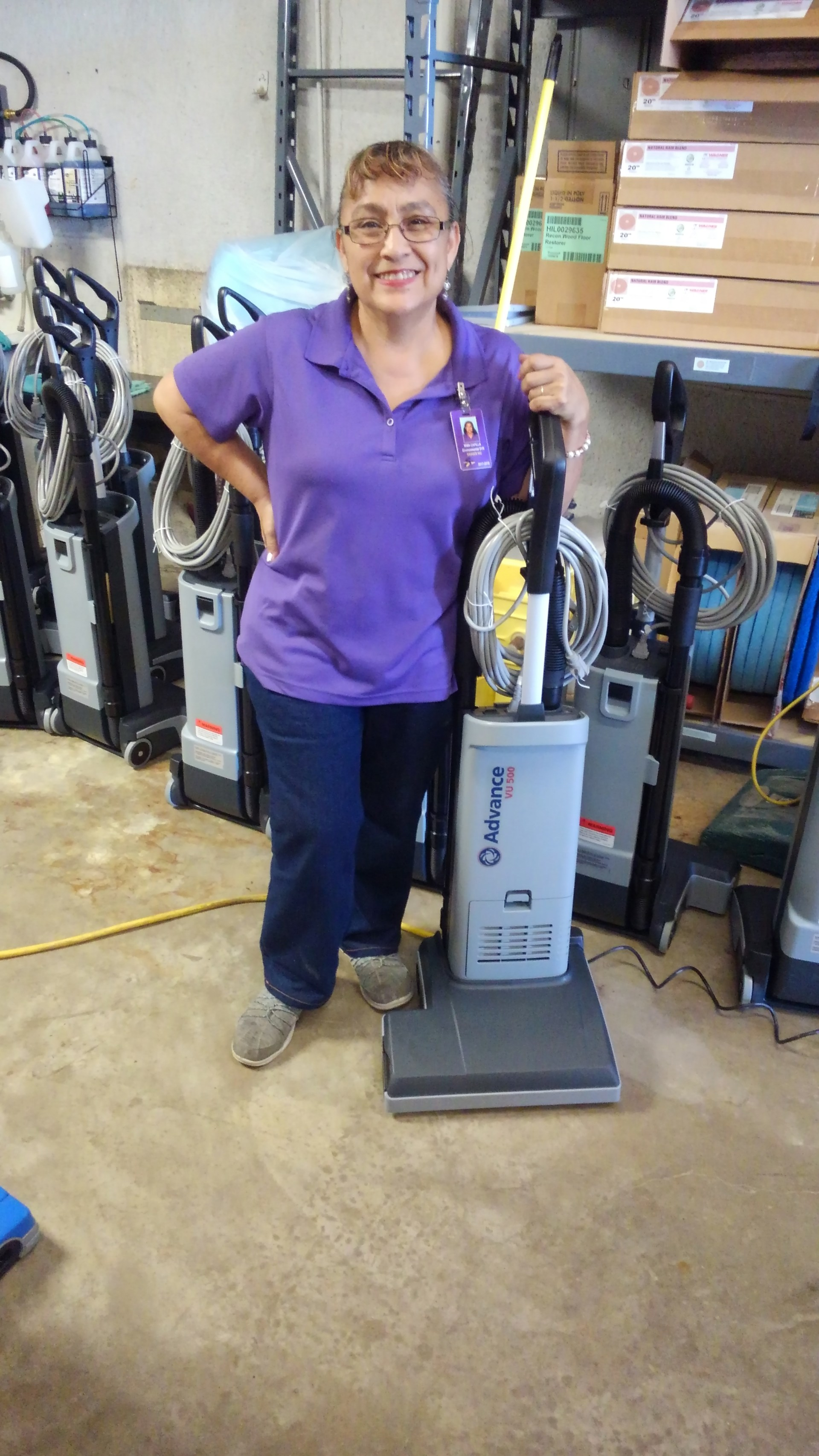 New vacuums for all staff members this year. Thank you SISD!