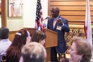 Board President Cleveland Johnson