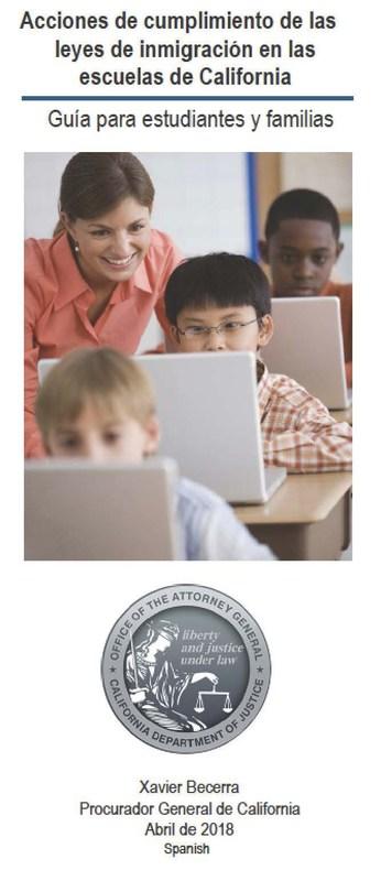 Acciones de cumplimiento de las leyes de inmigració en las escuelas de California