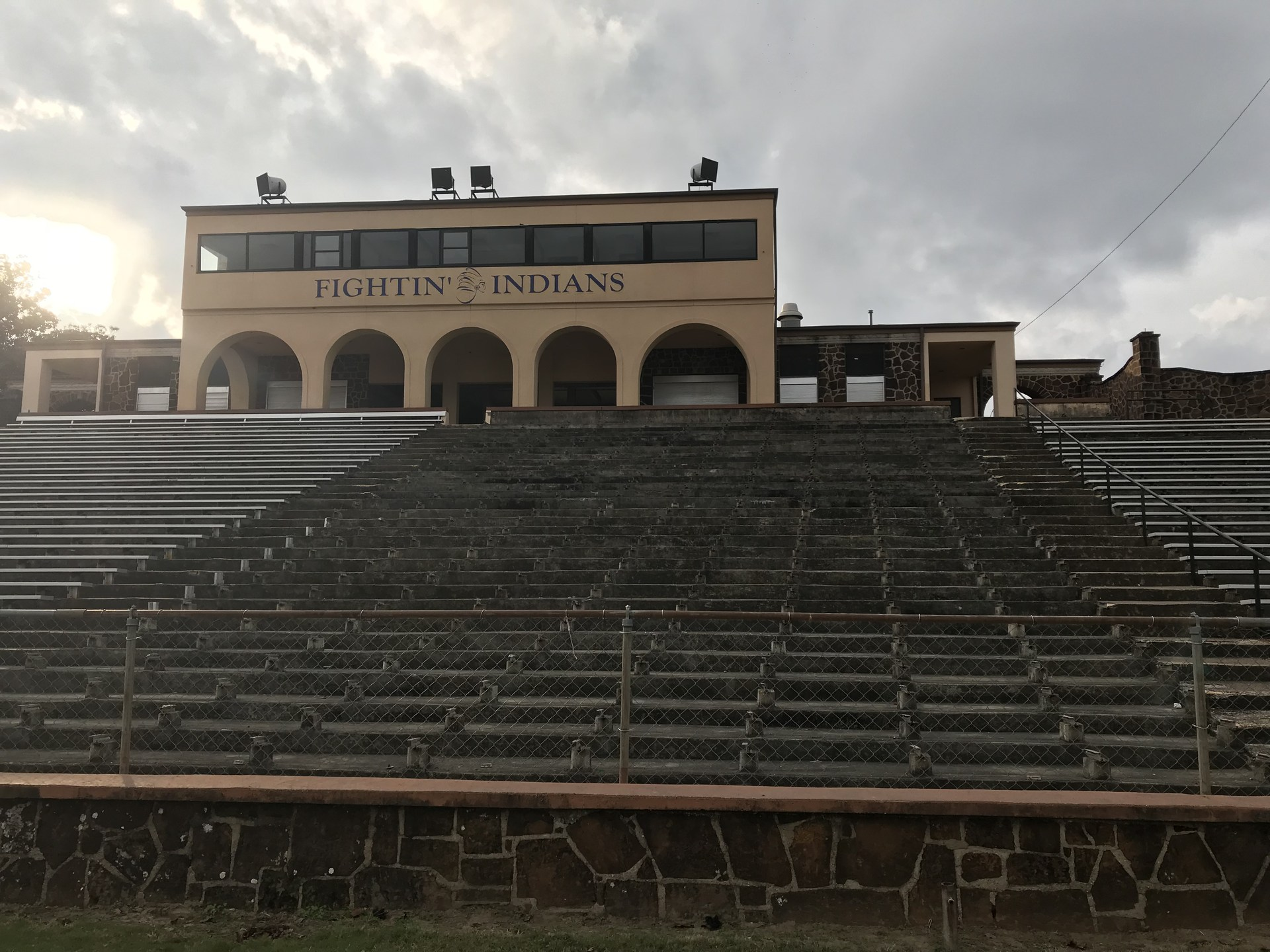 Bleachers removed