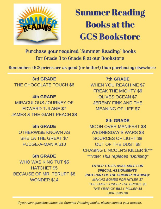 Summer Reading Books On Sale Now at GCS Bookstore Thumbnail Image