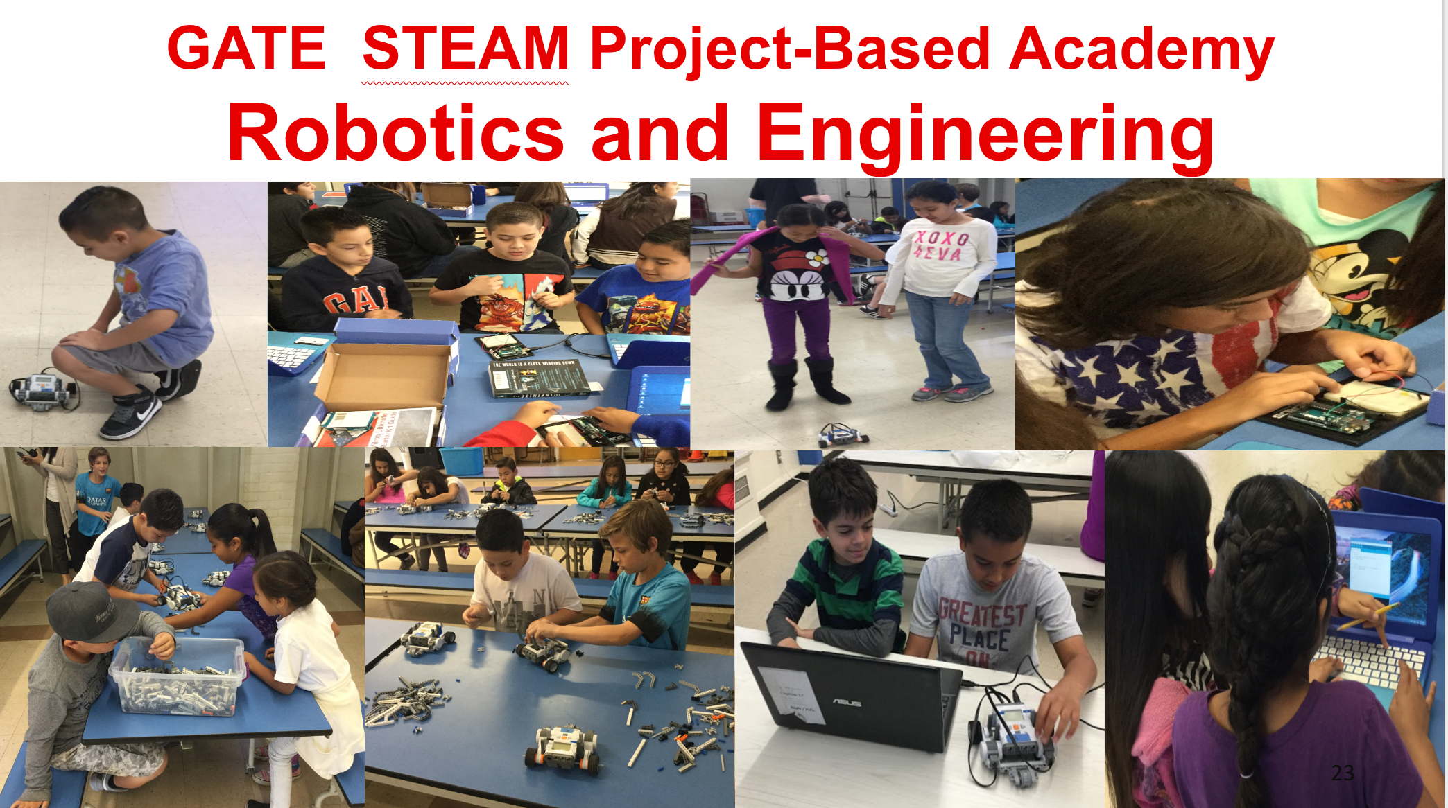 Project-based Academy showing robotics and engineering.