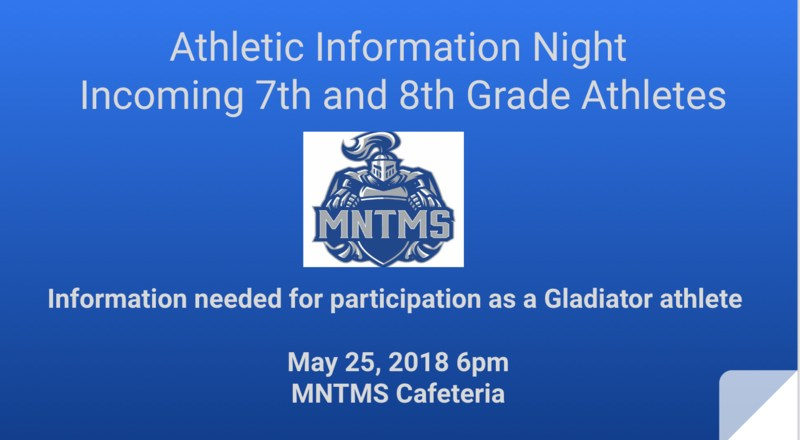 MNTMS 2018-2019 Athletics Information Night Thumbnail Image