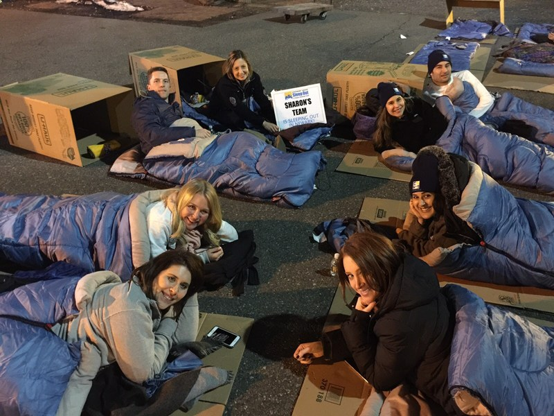 Class of 2009 Graduates Participate in Sleep Out Thumbnail Image