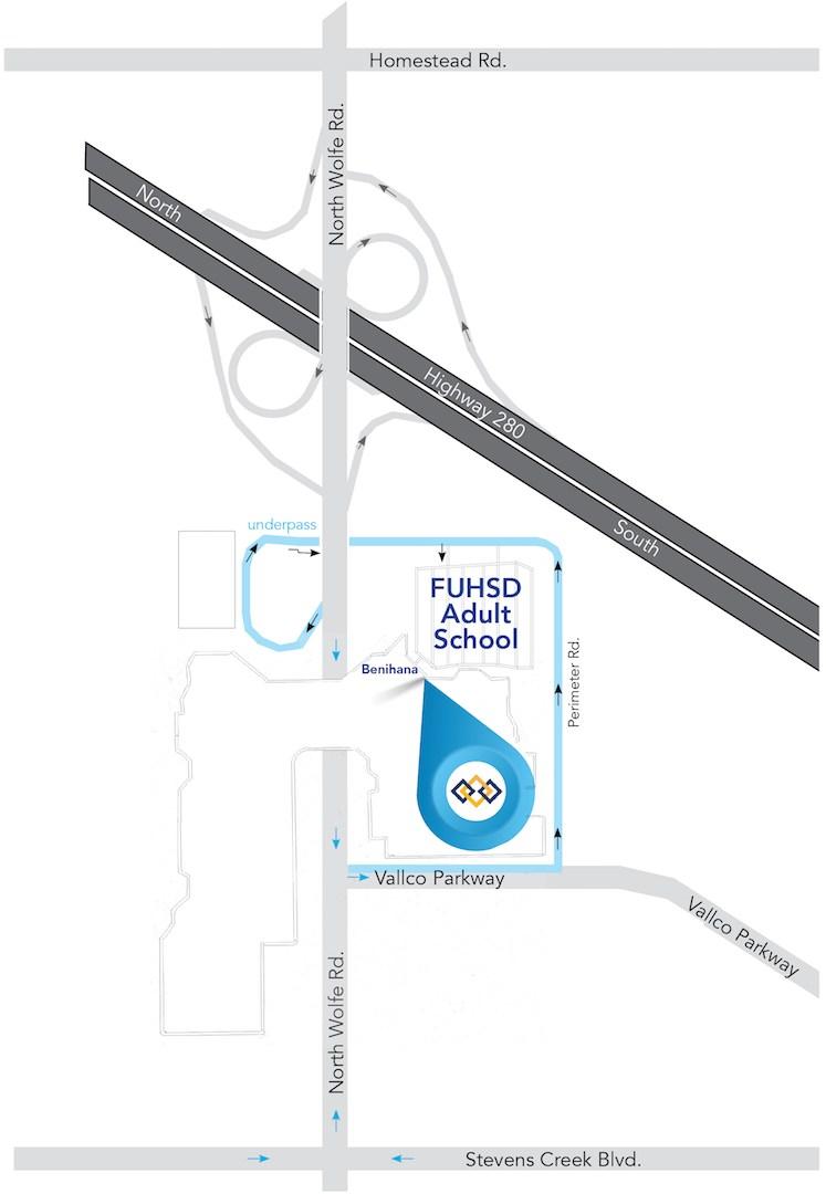 Homestead High School Campus Map.Fuhsd Adult School Vallco Campus Discover Fuhsd Adult School