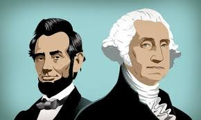 Drawing of Abe Lincoln and George Washington